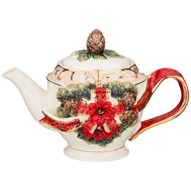 """Чайник заварочный коллекция """"christmas"""" 900 мл 24*14,5*16,5 см-848-008"""