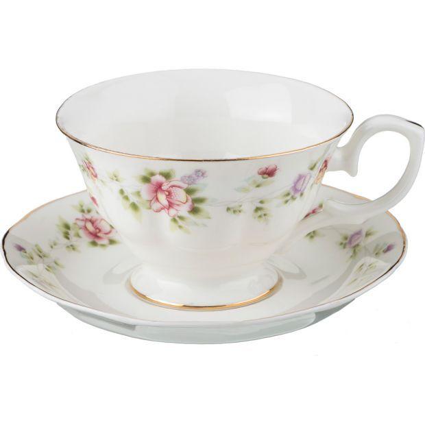 """Чайный набор на 1 персону """"екатерина"""" 2пр. 200 мл.-54-383"""