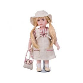 Кукла фарфоровая высота=30 см.-346-226