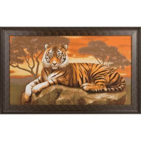 Гобеленовая картина тигр 68*43 см.