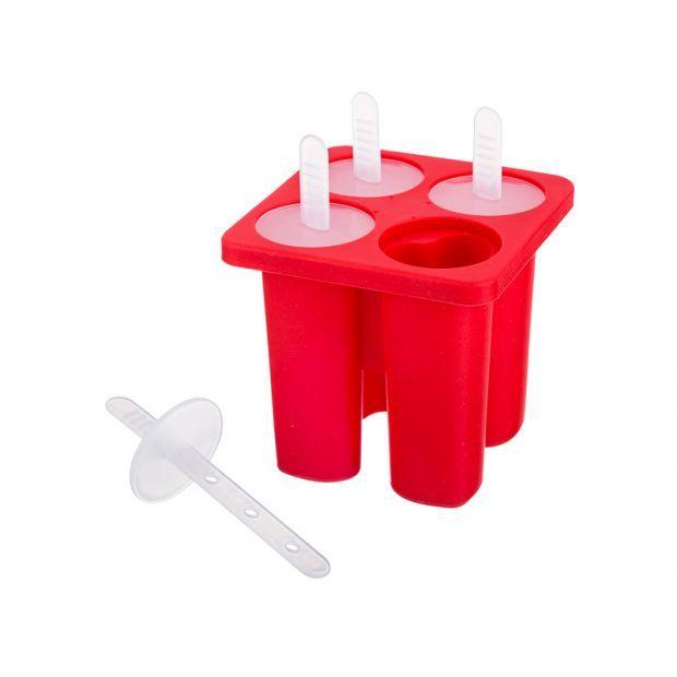 Силиконовая форма для приготовления мороженого 13*10*10 см.-710-341