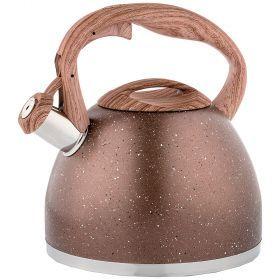 Чайник agness со свистком 2,6 л термоаккумулирующее индукционное дно-948-002