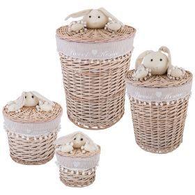 Набор корзин для игрушек из 4-х шт. l:ф45*55  m:ф37*40 s:ф29*28  xs:ф21*16 см.-190-219