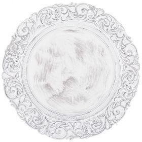 Тарелка декоративная пластиковая 36*36*2,5 см без упаковки-505-073