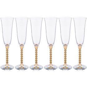 Набор бокалов для шампанского из 6 шт. 200 мл. высота=25,5 см.-661-053