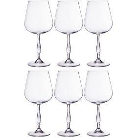 Набор бокалов для вина из 6 шт. «эвита» 540 мл. высота=23 см.-669-200