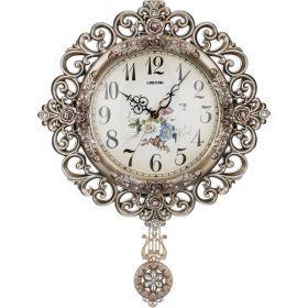 Часы настенные кварцевые с маятником 41,5*7*54 см. диаметр циферблата=22 см.-204-138