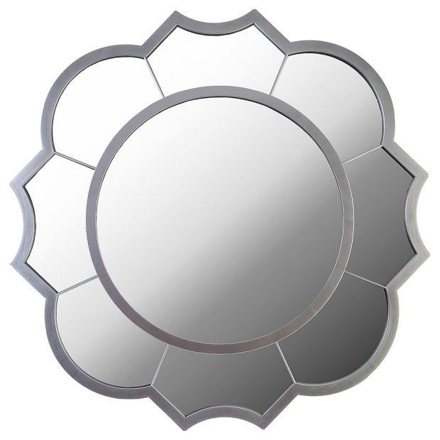 "Зеркало настенное ""swiss home"" диаметр=62 см цвет: серебро (кор=4шт.)-220-427"