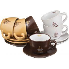 Чайный набор на 6 персон 12 пр. 200 мл.высота=7 см.-756-097