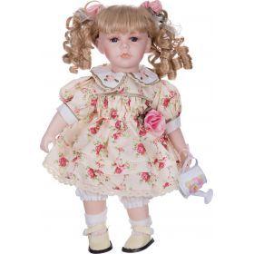 Кукла фарфоровая высота=36 см.-346-221