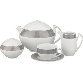 Чайный сервиз на 6 персон 15 пр.scarabeus sk008 1400/200/300/300 мл.высота=7/13/12/9 см.