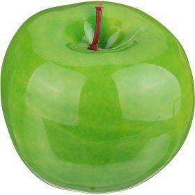 Изделие декоративное зеленое яблоко высота=9 см.без упаковки