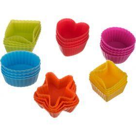 Набор силиконовых форм для выпечки из 24 шт. 3.4*2.5*1.5 см.-710-165