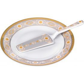 Блюдо для торта с лопаткой диаметр=23 см. высота=2 см.-389-367