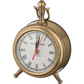 Часы настольные антик диаметр=12 см. высота=18 см.-877-416