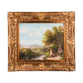 Картина масляная на холсте 59*49 см. багет 86*76 см.-107-1043
