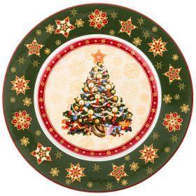 "Тарелка ""christmas collection"" диаметр=26 см. высота=2,2 см.-586-319"