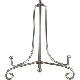 Комплект подставок для тарелок из 10 шт. 10*6*9 см. металлическая. цвет - серебро