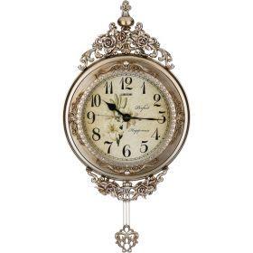 Часы настенные кварцевые с маятником 38*7*75 см. диаметр циферблата=26 см.-204-136