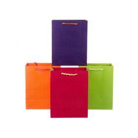 Комплект бумажных пакетов из 12 шт 23*18*10 см.4 вида-512-501