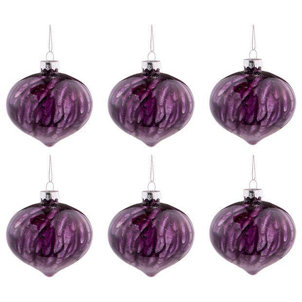 """Набор из 6-ти декоративных изделий коллекция мрамор""""шар"""" диаметр=8 см,высота=9 см цвет: индиго-864-131"""