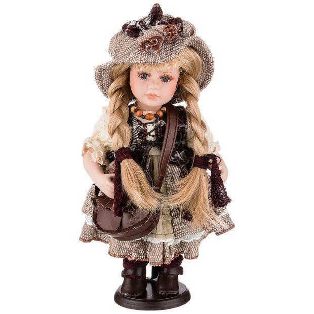 Кукла фарфоровая декоративная высота 30см-346-265