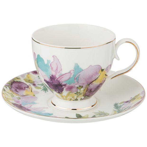 """Чайный набор на 1 персону, 2 пр. """"ирисы"""", 250 мл-275-1147"""