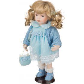 Фарфоровая кукла с мягконабивным туловищем высота=30 см-485-221