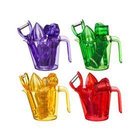 Набор кухонных принадлежностей 9 пр. 4 цвета в ассортименте-705-614