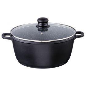Сковорода-сотейник с крышкой и арома-ручкой диаметр=26 см.высота=12 см.5,3 л.-932-232
