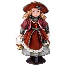Кукла фарфоровая высота=42 см.-346-254