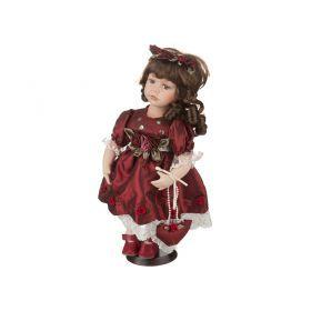 Фарфоровая кукла с мягконабивным туловищем высота=30 см-485-087