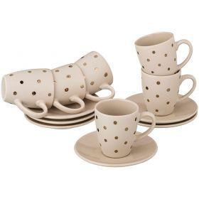 Кофейный набор на 6 персон 12 пр. 100 мл.-584-043