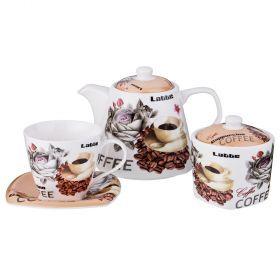 Чайный набор на 6 персон 14пр. 700/220/280мл-165-408