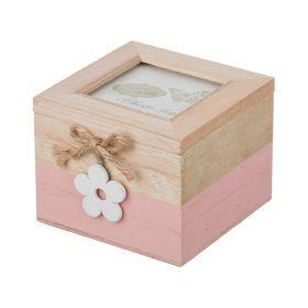 Шкатулка розовая коллекция весенний винтаж 10*10,5*8 см