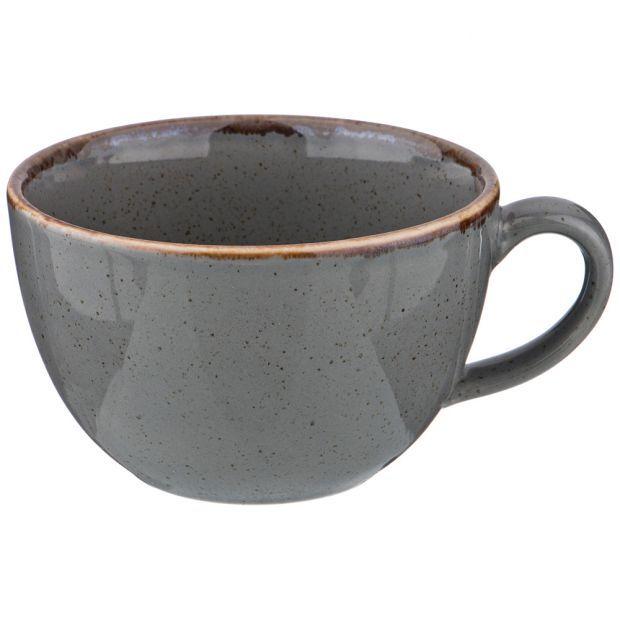 Чашка seasons 340 мл цвет темно-серый (кор=24шт.)-664-214