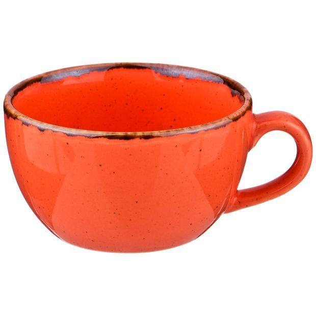 Чашка seasons 250 мл цвет оранжевый (кор=24шт.)-664-207