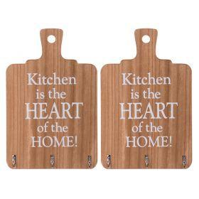 Вешалка настенная кухня-сердце дома 29*18,6 см.