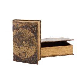 Комплект из 2-х шкатулок-книг глобус 33*23.5*7 / 26*17*5 см