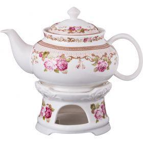 Чайник заварочный на подставке 600 мл.-165-351