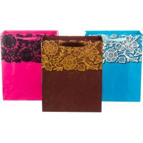 Комплект бумажных пакетов из 12 шт 32*26*12 см.3 вида-512-508
