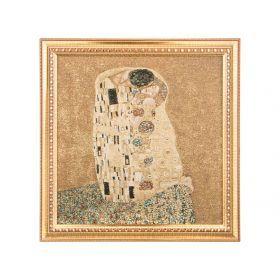 Гобеленовая картина г.климт.поцелуй 54*53см.