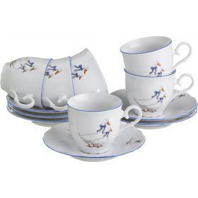 Чайный набор на 6 персон 12 пр.
