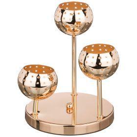 Подсвечник 3-х рожковый диаметр=18 см.высота=22 см.-39-408