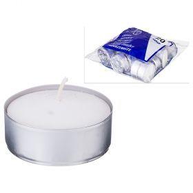 Набор свечей из 20 шт. 6*6*2 см.-348-650