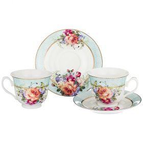 Чайный набор на 2 персоны 4пр. 220мл (кор=24наб.)-165-464