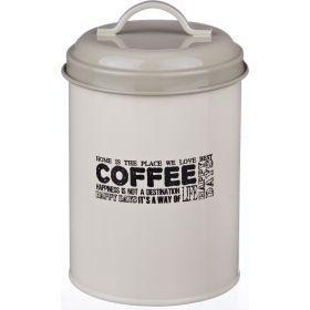 Емкость для сыпучих продуктов кофе высота=15 см.диаметр=11 см.