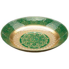 Блюдо «jasmin» green 30 cm  без упаковки (мал 4шт)-339-168