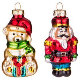 Набор игрушек для маленькой елочки 2 шт. высота=8,5 см-862-246
