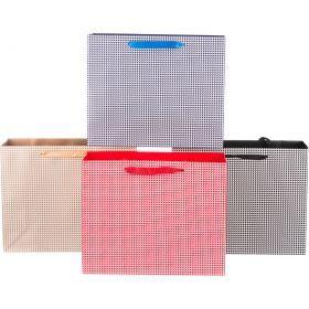 Комплект бумажных пакетов из 12 шт 26*32*11 см.4 вида-512-502